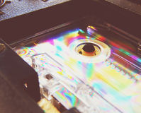 Audio cassette per il registratore Fotografie Stock Libere da Diritti
