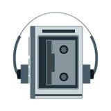 Audio cassette player. Retro music gadget from 21-st century.  Stock Photo