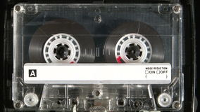 Audio cassette playing stock footage