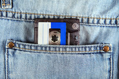 Audio Cassette in the Pocket Stock Photo