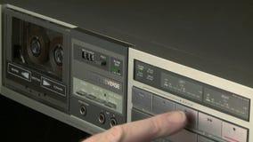 Audio Cassette Recorder stock video