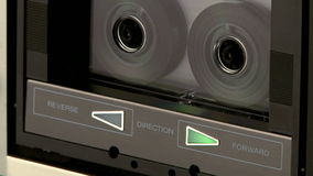 Audio Cassette Recorder. Audio cassette player playing a tape stock footage
