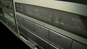 Audio Cassette Recorder stock footage