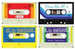 Audio cassette records Stock Photo