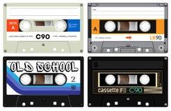 Audio cassette records Stock Photos