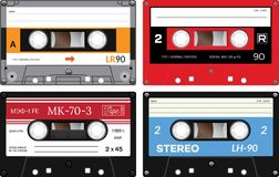 Audio cassette records Royalty Free Stock Photo