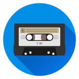Audio Cassette. Retro . Flat design, vector illustration, vector royalty free illustration
