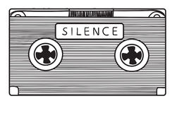 Audio cassette with silence Royalty Free Stock Images