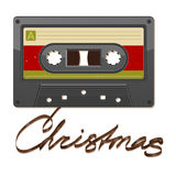 Audio cassette tape. Christmas. Audio cassette tape. Film written Christmas Stock Image