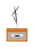 Audio cassette tape with clef Stock Photo