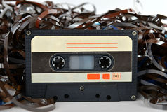 Audio cassette and tape composition Royalty Free Stock Images