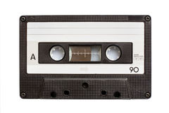 Audio cassette tape isolated on white Royalty Free Stock Image