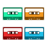Audio cassette tape. Isolated on a white background. Flat illustration Royalty Free Stock Photo