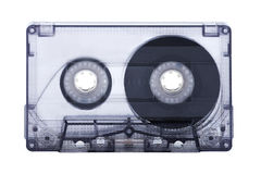 Audio cassette tape isolated on white background. Old audio cassette isolated on white background Royalty Free Stock Images