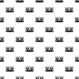 Audio cassette tape pattern vector Royalty Free Stock Photos