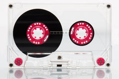 Audio cassette tape, pink. Royalty Free Stock Photos