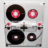 Audio cassette tape, pink Royalty Free Stock Image