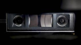 Audio Cassette Tape Rewinding stock footage