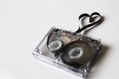 Audio cassette tape shape heart Stock Image