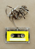 Audio cassette tape with subtracted out tape Royalty Free Stock Images