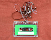 Audio cassette tape with subtracted out tape Stock Photos