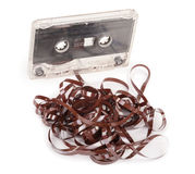 Audio cassette with tape tangle Stock Image