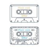 Audio Cassette Tape , Vector illustration. Drawing vector illustration