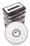 Audio cassette to CD Stock Photo