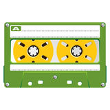 Audio Cassette transparent box Royalty Free Stock Image