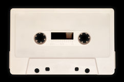 Audio cassette, white Stock Photos