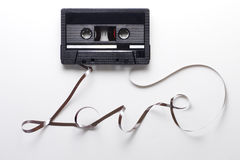 Audio cassette on white Royalty Free Stock Photography