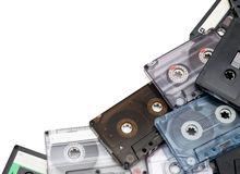 Audio cassettes Royalty Free Stock Image