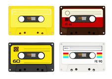 Audio cassettes. Isolated on white background Stock Photos