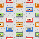 Audio Cassettes pattern Stock Photos