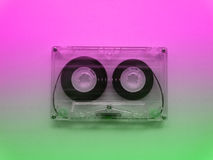 Audio cassettes for recorder. 80s 90s 70s retro vintage old music time generation music tape wallpaper background style nostalgia song royalty free stock photo