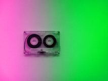 Audio cassettes for recorder. 80s 90s 70s retro vintage old music time generation music tape wallpaper background style nostalgia song Royalty Free Stock Photos