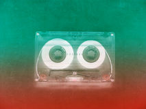 Audio cassettes for recorder. 80s 90s 70s retro vintage old music time generation music tape wallpaper background style nostalgia song neon cover stock photos