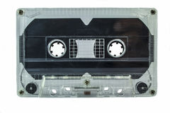 Audio cassettes - retro style. Old Grungy cassette tape isolated over a white background stock photo