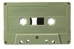Audio cassettes - retro style. Old Grungy cassette tape isolated over a white background stock photography
