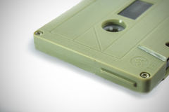 Audio cassettes - retro style. Old Grungy cassette tape over a white background stock images