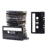 Audio Cassettes stacked Stock Image