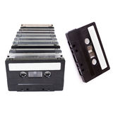 Audio Cassettes stacked Stock Photos
