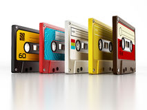 Audio cassettes. On white background Stock Photography