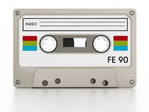 Audio cassettes. On white background Royalty Free Stock Photo