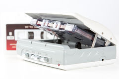Audio cassettespeler met band Royalty-vrije Stock Foto's