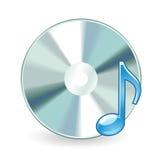 Audio Cd isolato Fotografia Stock