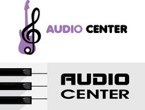 Audio center. Logotype Royalty Free Stock Photos