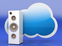 Audio chmura ilustracja wektor