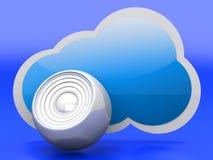 Audio chmura royalty ilustracja