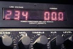 audio ciemna wyposażenia błyskawicy noc Obraz Royalty Free